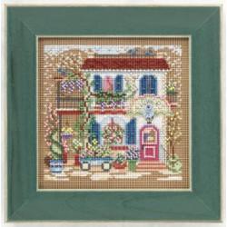 Цветочный магазин, набор для вышивания бисером и нитками на перфорированной бумаге, 13х13см Mill Hil