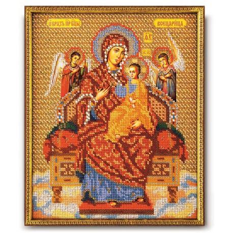 Всецарица Богородица, набор для вышивания бисером 21х26см Радуга Бисера