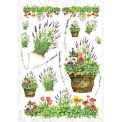 Разные цветы, бумага рисовая для декупажа, 32х45 см. Love2Art