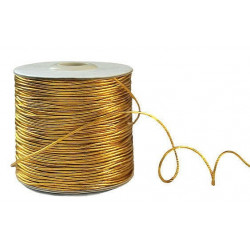 Золото, шнур люрекс 1мм 1м