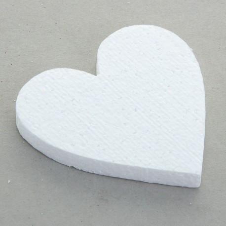 Сердце плоское 10х3см. Форма из пенопласта