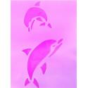 ДельфиныТрафарет пластиковый многоразовый 29*21см