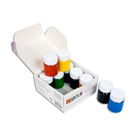 Набор красок по шелку и батику акриловых 9х40мл DECOLA