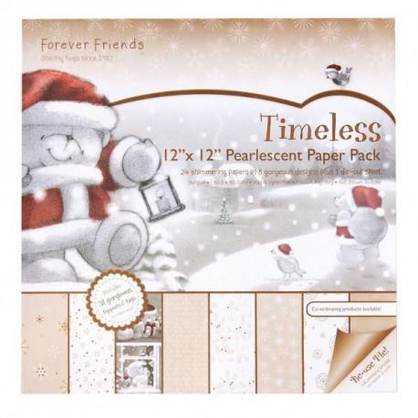 TIMELESS, набор бумаги для скрапбукинга 24листа+1лист вырубки, 160gm2 30,5x30,5см Docrafts