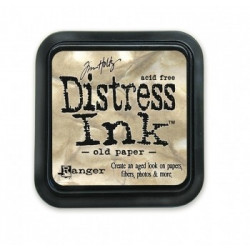 Штемпельная подушечка Tim Holtz Distress на водной основе, 5х5 см, цвет старая бумага