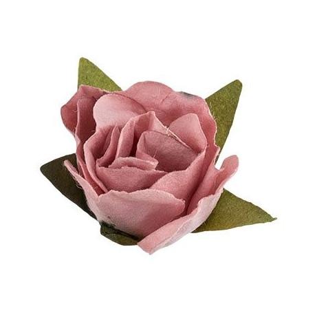"""Дымчатая роза (т.розовый), декоративные элементы """"Цветы"""", 12шт, Mr.Painter"""