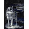 Волк, кристальная мозаика 31,5x46,5 см, частичное заполнение Фрея