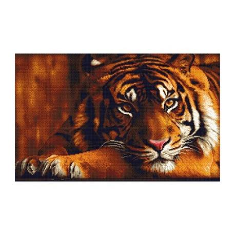 Тигр, кристальная мозаика 36x58 см, полное заполнение Фрея