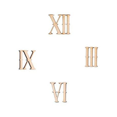 Римские цифры, заготовки для декорирования фанера 4мм 2,4см 4шт. Mr.Carving