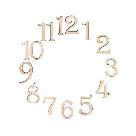 Изящные цифры, заготовки для декорирования фанера 4мм 2,4см 12шт. Mr.Carving