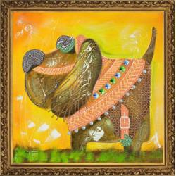 Санчо Панса, набор для вышивания бисером, 30х30см, 7цветов НоваСлобода