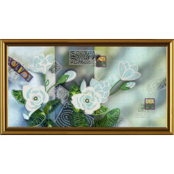 ВДОХНОВЕНИЕ.Цветочный микс, набор для вышивания бисером, 19х38см, 7цветов НоваСлобода