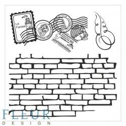 Стена с марками Фоновые, набор штампов 10,5х10,5см