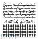 Текст и ромбы Фоновые, набор штампов 10,5х10,5см