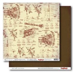 Бумага для скрапбукинга 30х30см 180 гр/м двусторонняя Надежное крепление
