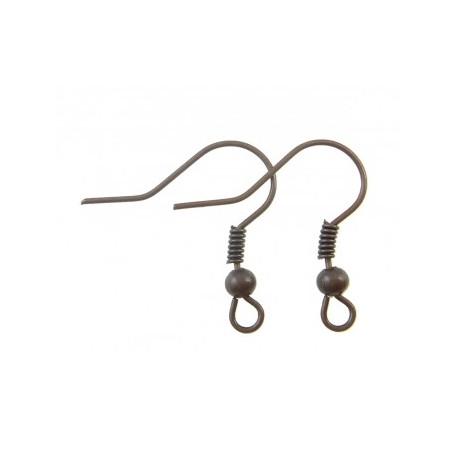 Основа для серьги (швенза), размер 18 мм, упаковка 10 пар, цвет медный, металл