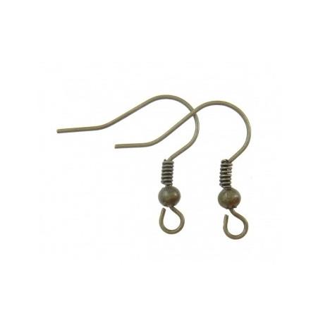 Основа для серьги (швенза), размер 18 мм, упаковка 10 пар, цвет бронзовый, металл