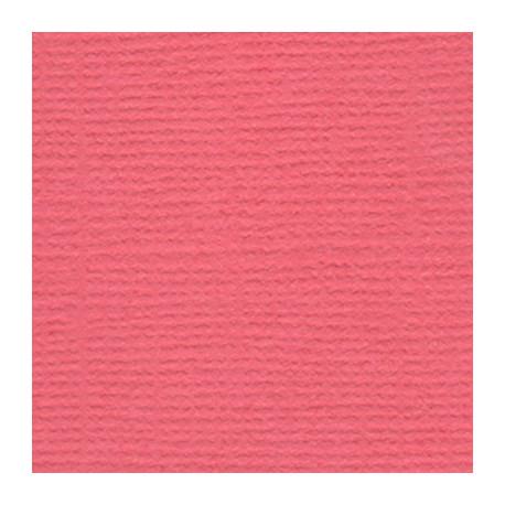 Ягодный леденец (коралловый), бумага для скрапбукинга(кардсток) 216г/м2, 30.5x30.5 см, Mr.Painter