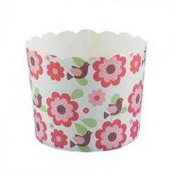 Цветы, бумажные формы для выпечки d 6см 6шт. Pane-Cake