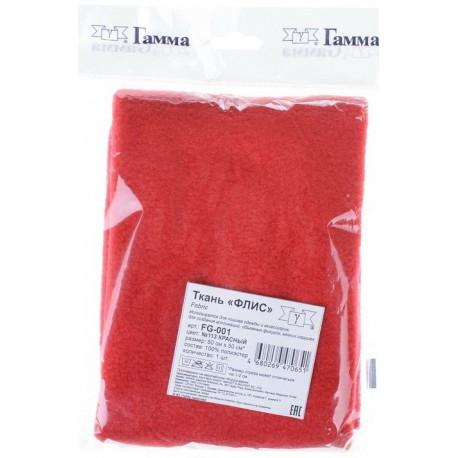 Красный, флис 230 г/кв.м, 100% полиэстер фасовка 50х50см
