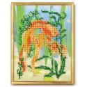 Золотая рыбка, набор для вышивания бисером 18х22см, частичная, Радуга Бисера