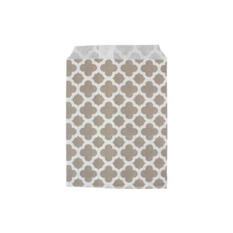 Арабески серые, бумажные пакеты для выпечки, 13х18см, 10 шт