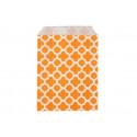 Арабески оранжевые, бумажные пакеты для выпечки, 13х18см, 10 шт