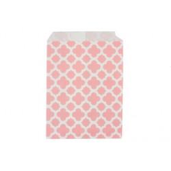 Арабески розовые, бумажные пакеты для выпечки, 13х18см, 10 шт