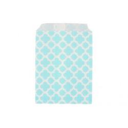 Арабески голубые, бумажные пакеты для выпечки, 13х18см, 10 шт