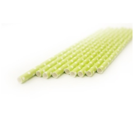 Горох салатовый, бумажные трубочки,19,5см, 10 шт