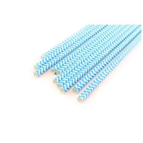 Шеврон синий, бумажные трубочки,19,5см, 10 шт