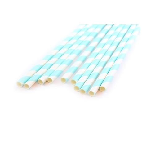 Завиток мятный чай, бумажные трубочки,19,5см, 10 шт