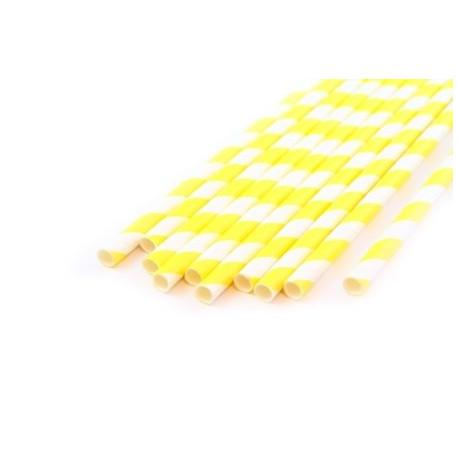 Завиток желтый, бумажные трубочки,19,5см, 10 шт