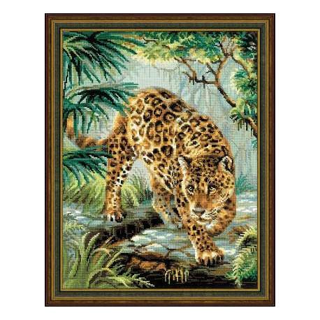 Хозяин джунглей, набор для вышивания крестиком, 30х40см, мулине хлопок Anchor 21цвет Риолис