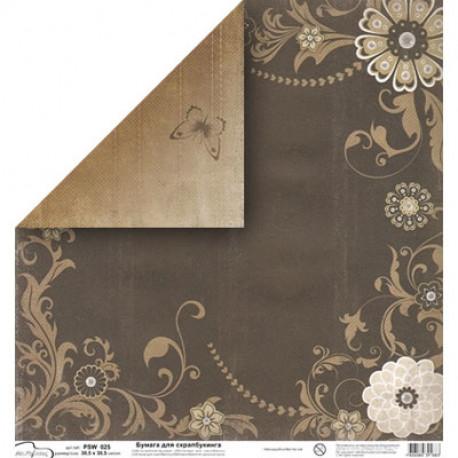 Бумага для скрапбукинга 190 г/м2, 30.5x30.5 см, Mr. Painter
