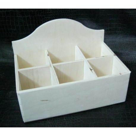 Короб 6 отделений 15*20см, деревянная заготовка фанера 6мм
