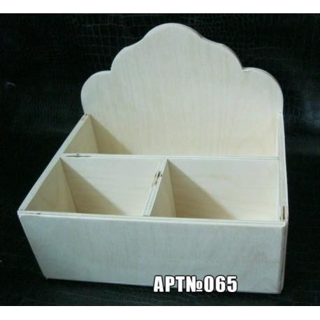 Короб 3 отделения 20*16*16см, деревянная заготовка фанера 6мм