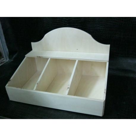 Короб 3 отделения 30*20*19см, деревянная заготовка фанера 6мм