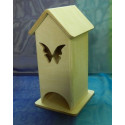 Чайный домик с бабочкой 11*12*22см, деревянная заготовка фанера 6мм