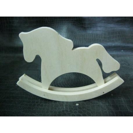 Фигурка лошадка-качалка 13*10см, деревянная заготовка фанера 6мм