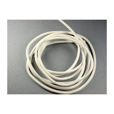Белый, шнур кожанный 2мм, 1м. Gamma