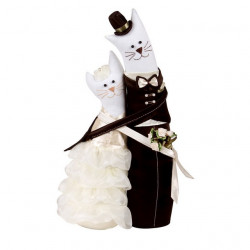 Коты обнимашки свадебные, набор для шитья Miadolla