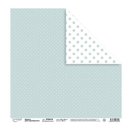 Крупные точки, бумага для скрапбукинга двусторонняя 30.5x30.5см, 190г/м2, Mr.Painter