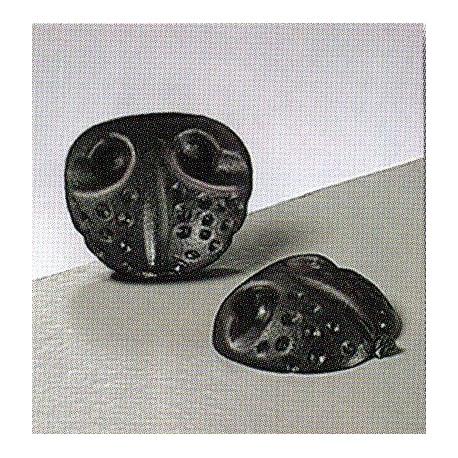Носики животных клеевые, Цвет черный, 20 мм, 4 шт , Состав: пластик.
