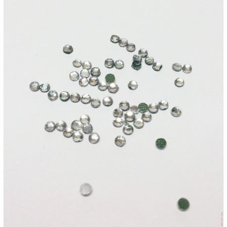 Белый, стразы клеевые 2.4 мм, акрил, 144 шт, Zlatka