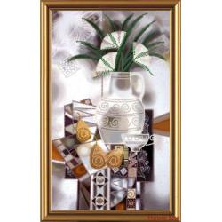 ВДОХНОВЕНИЕ.Натюрморт, набор для вышивания бисером, 19х33см, 8цветов НоваСлобода