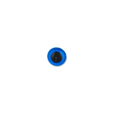 Голубой, глаза кристальные, пришивные 10,5мм 1шт. HobbyBe