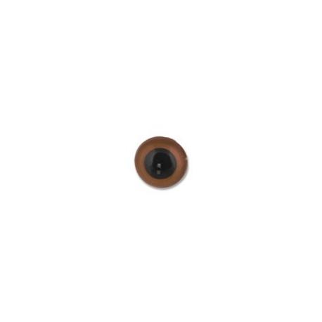 Св.коричневый, глаза кристальные, пришивные 10,5мм 1шт. HobbyBe