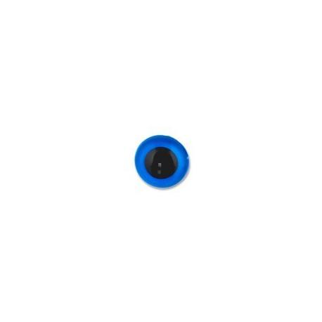 Голубой, глаза кристальные, с шайбами 6мм 1шт. HobbyBe