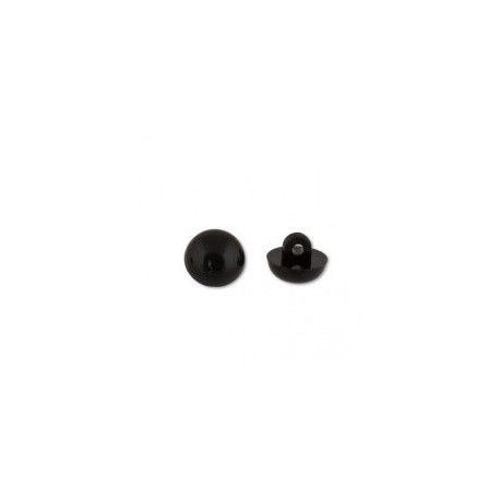 Черный, глаза пластиковые, пришивные 6мм 1шт. HobbyBe